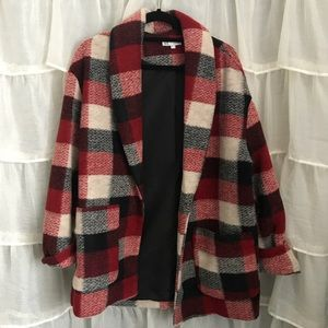 Zara Red Plaid Coat